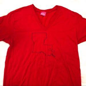 Tops - Louisiana State V-neck T-shirt
